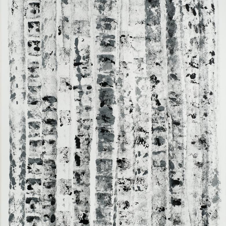 Verticals B&W #2 2012 36x48