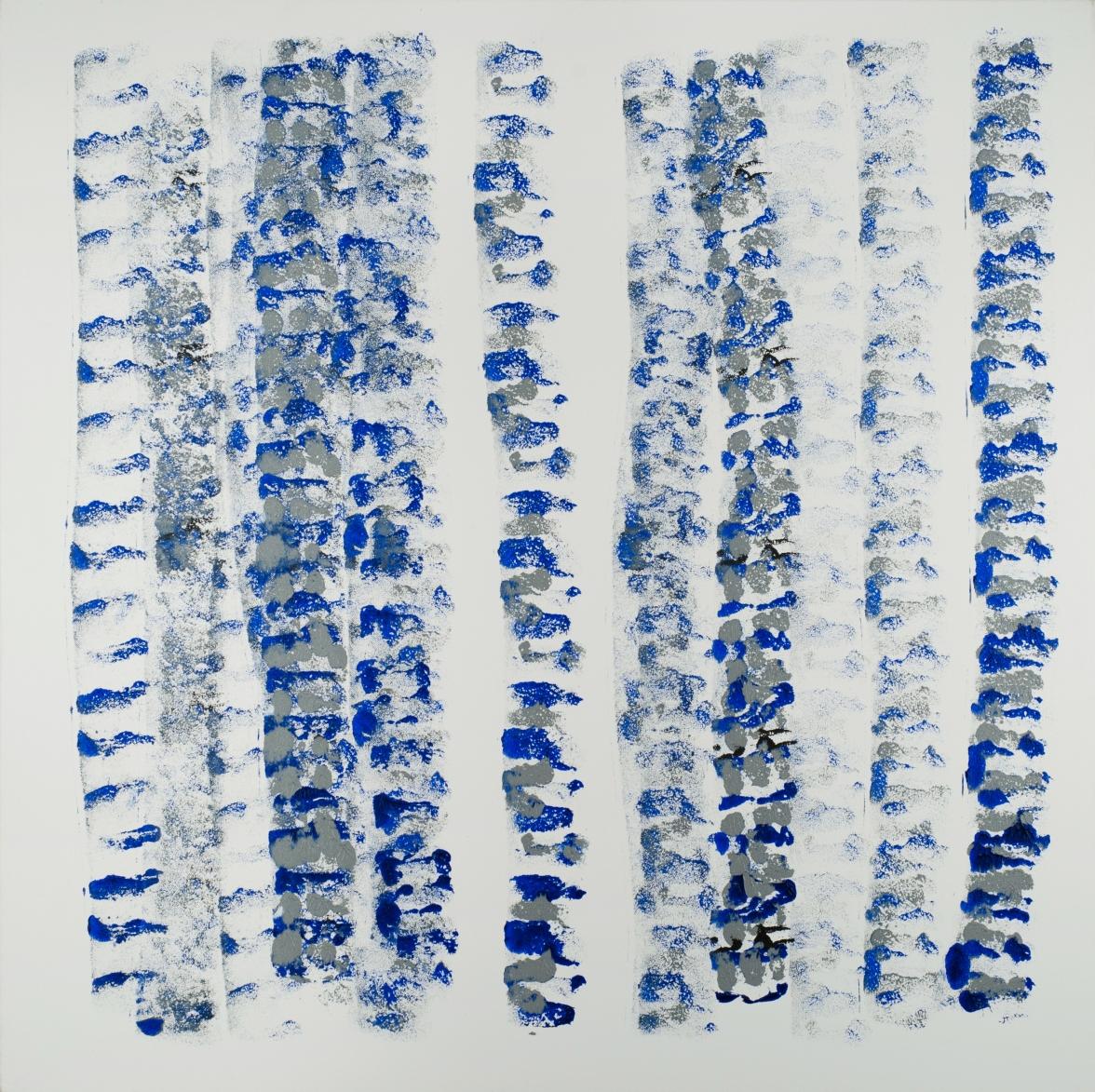 Verticales #3 Blue&GreyoW 2.2012 (36''x36'')