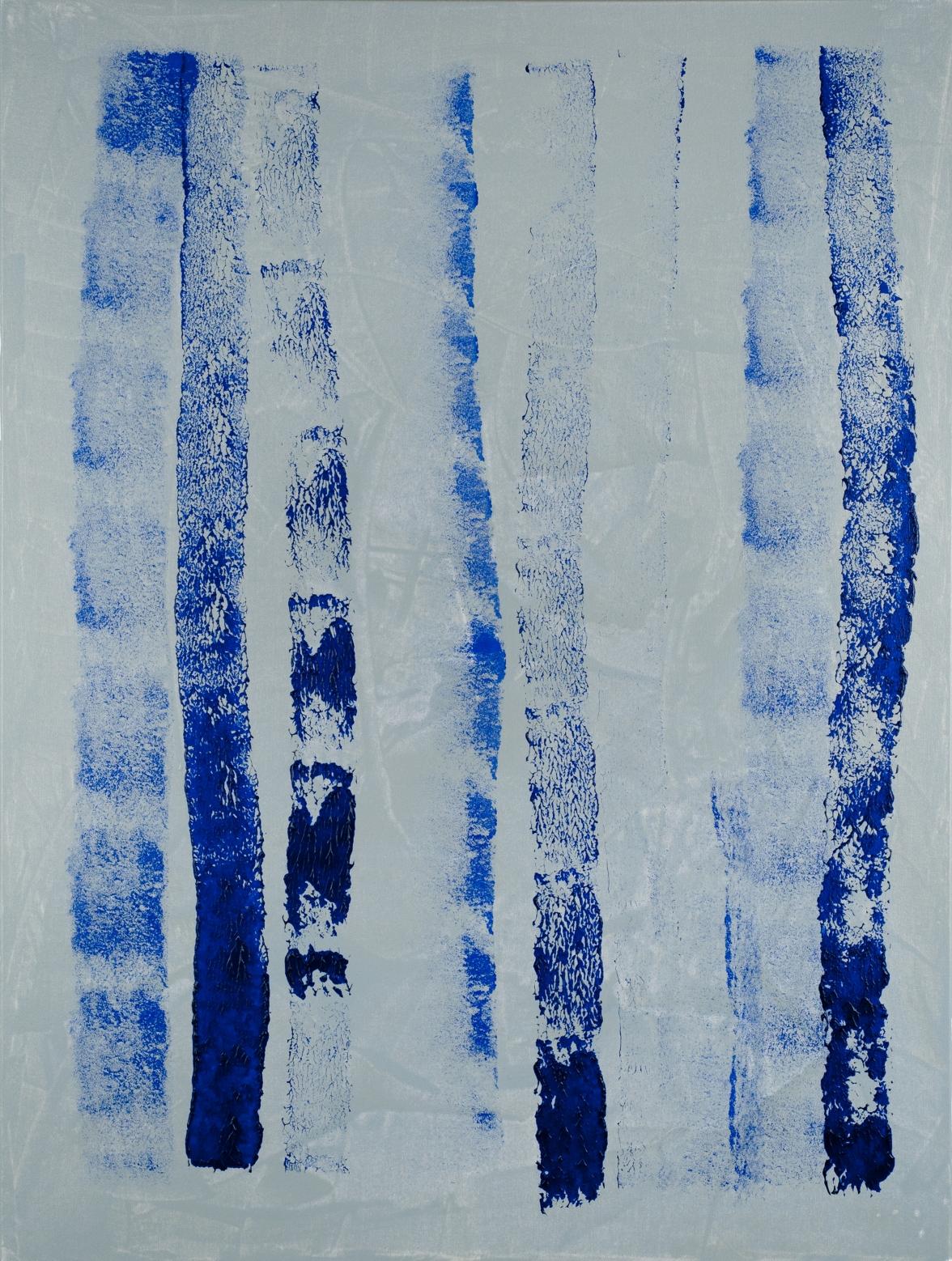 Verticales #6a blue o grey 4.2013 (36''x48'')