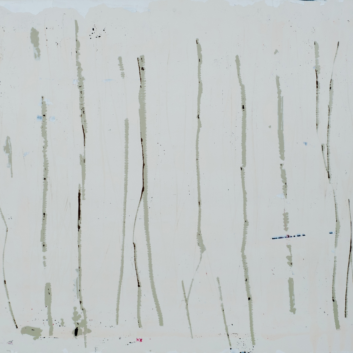 Verticals on Wood White 2013 16x20 in