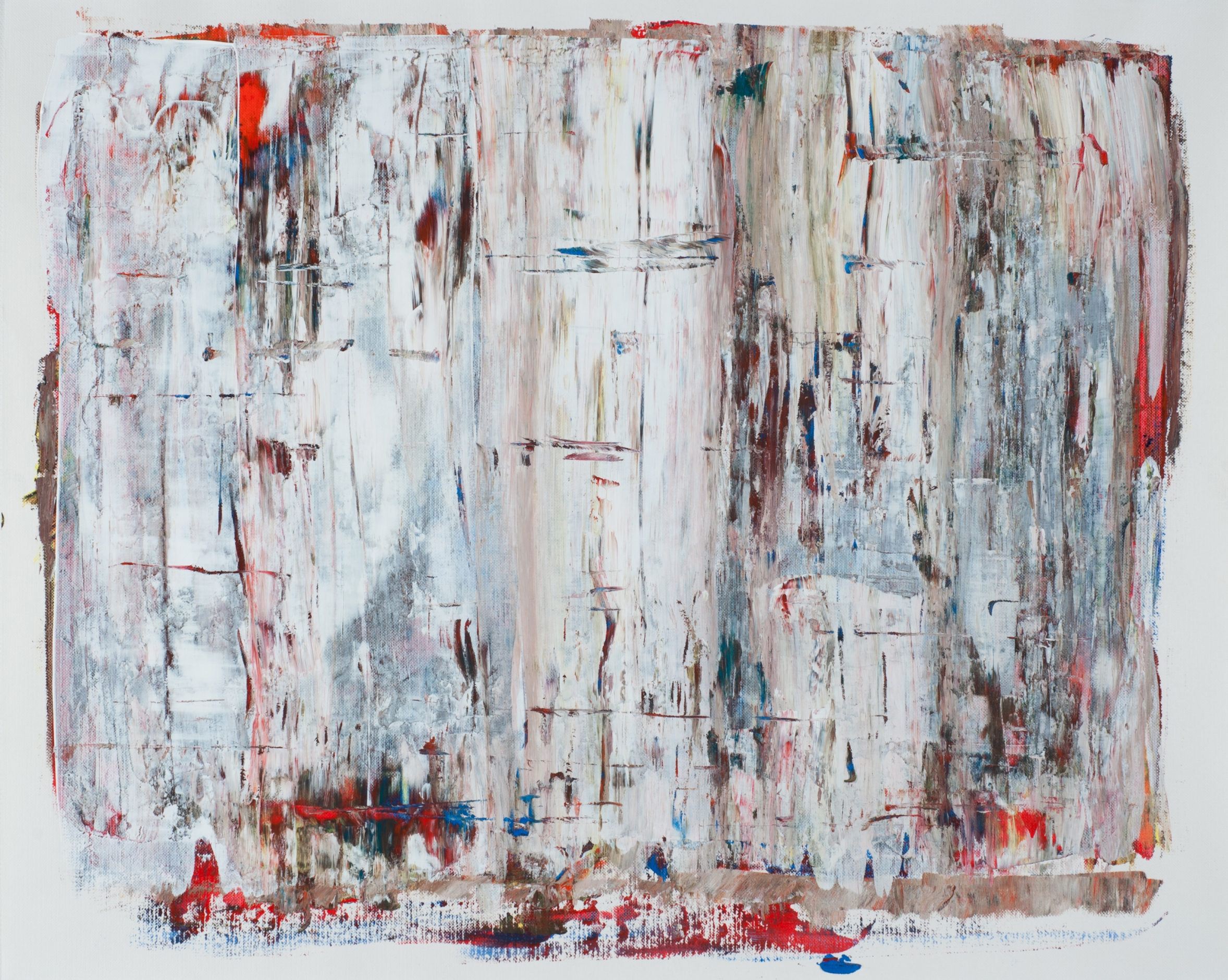 PAPER ABS 2012 White Squeegee 2012 16x20 in